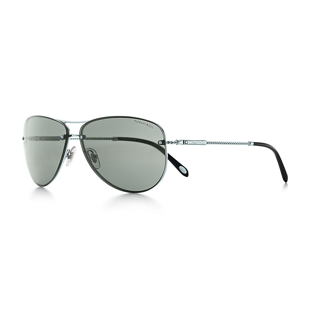 Tiffany Twist:Aviator Sunglasses