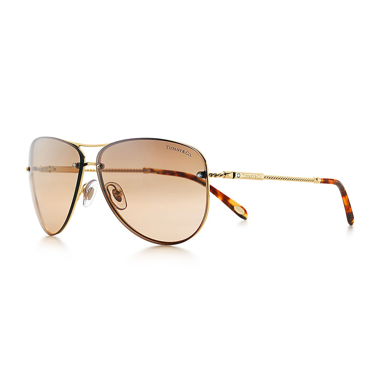 Tiffany Twist:Aviator Sunglasses