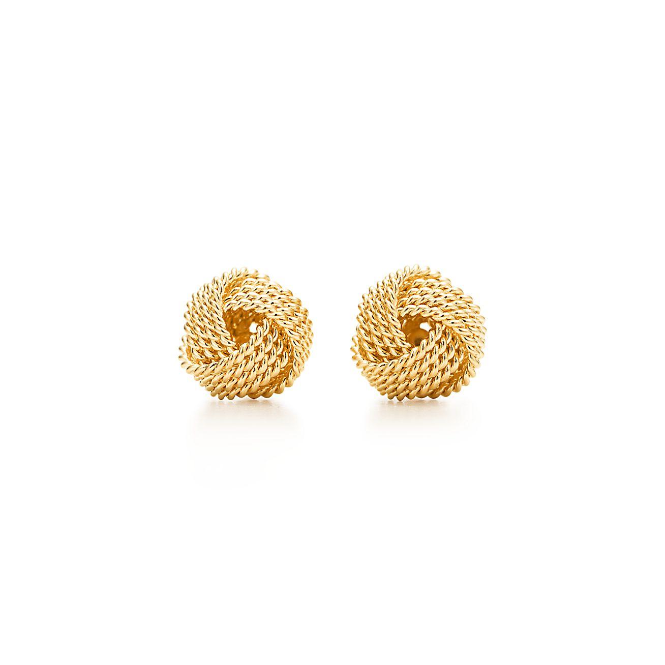 Tiffany Twist knot earrings in 18k gold.   Tiffany & Co.