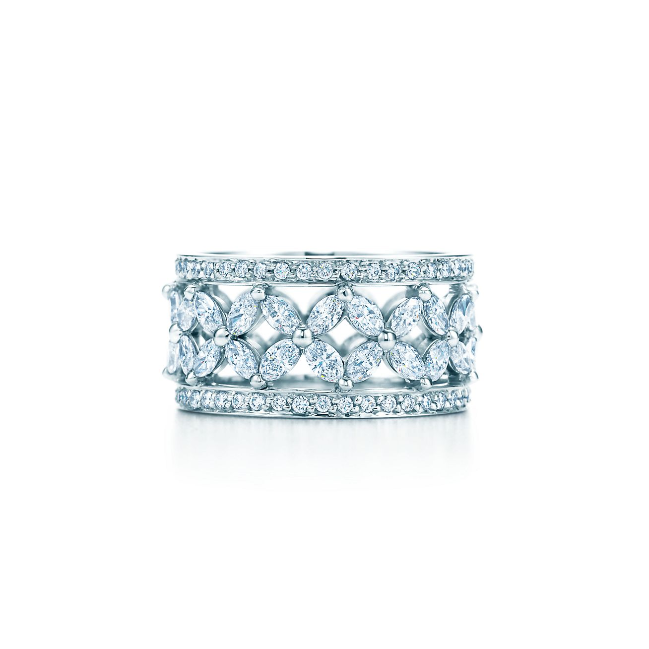 Tiffany Victoria 174 Band Ring In Platinum With Diamonds