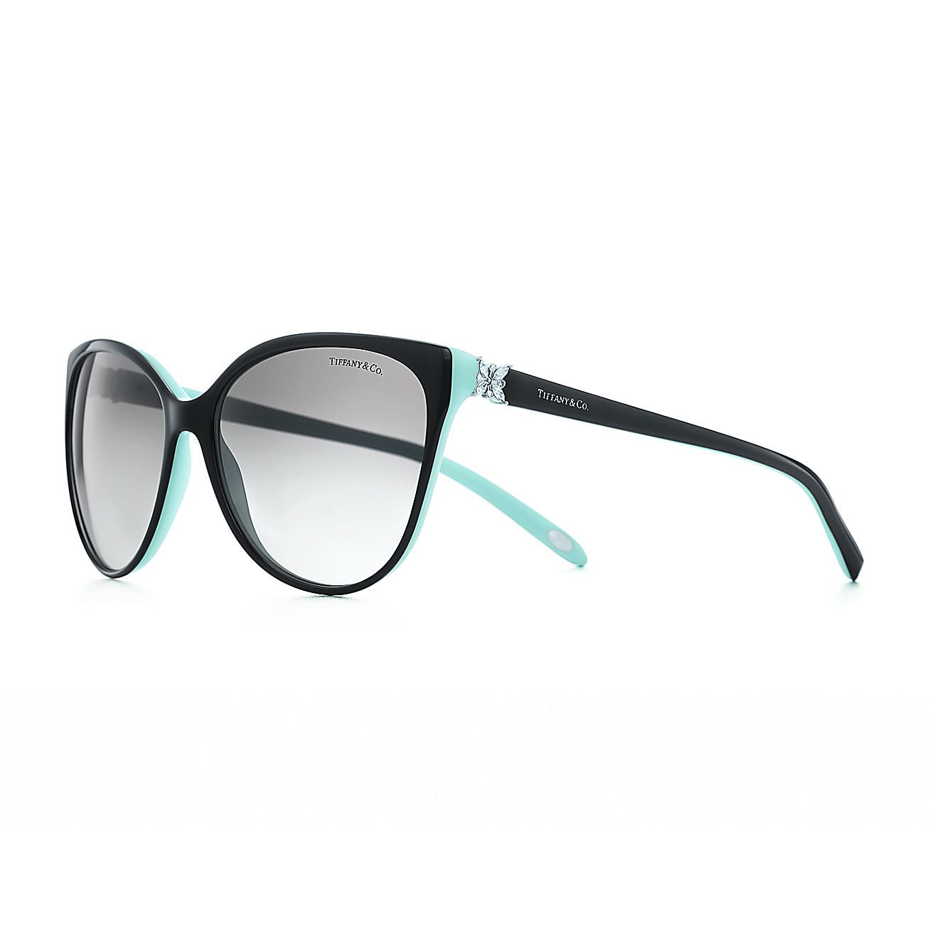 Tiffany Glasses Frames New York : Tiffany Victoria Cat eye sunglasses in black and Tiffany ...