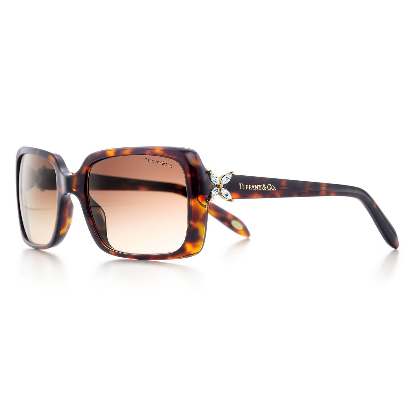 Tiffany Victoria® rectangular sunglasses with Austrian ...