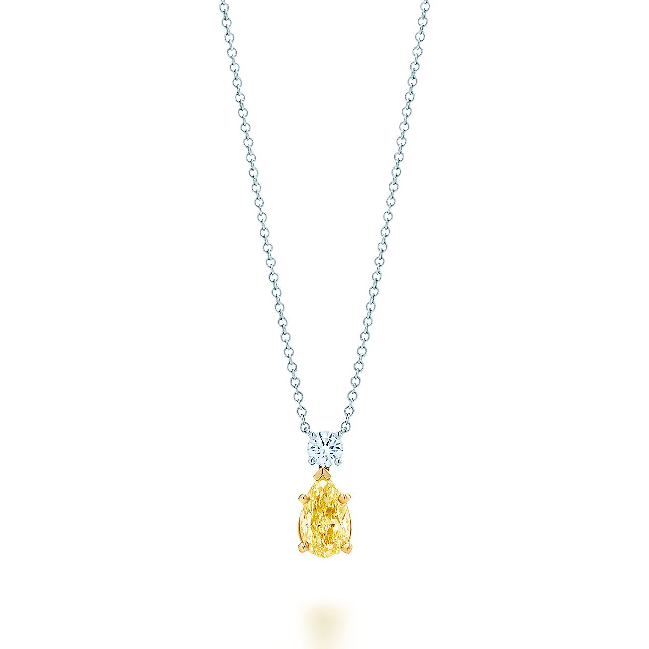 Tiffany yellow diamond pendant in platinum and 18k gold with a tiffany yellow diamond pendant in platinum and 18k gold with a white diamond tiffany co mozeypictures Images