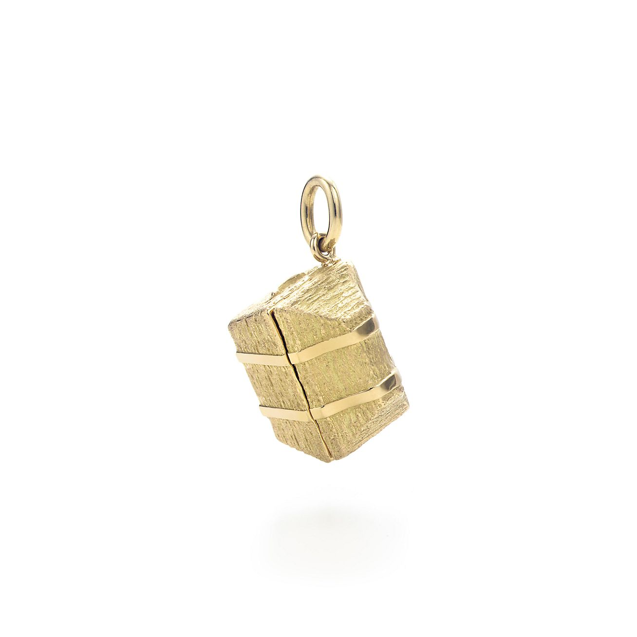 treasure chest charm 18k gold colored gemstones