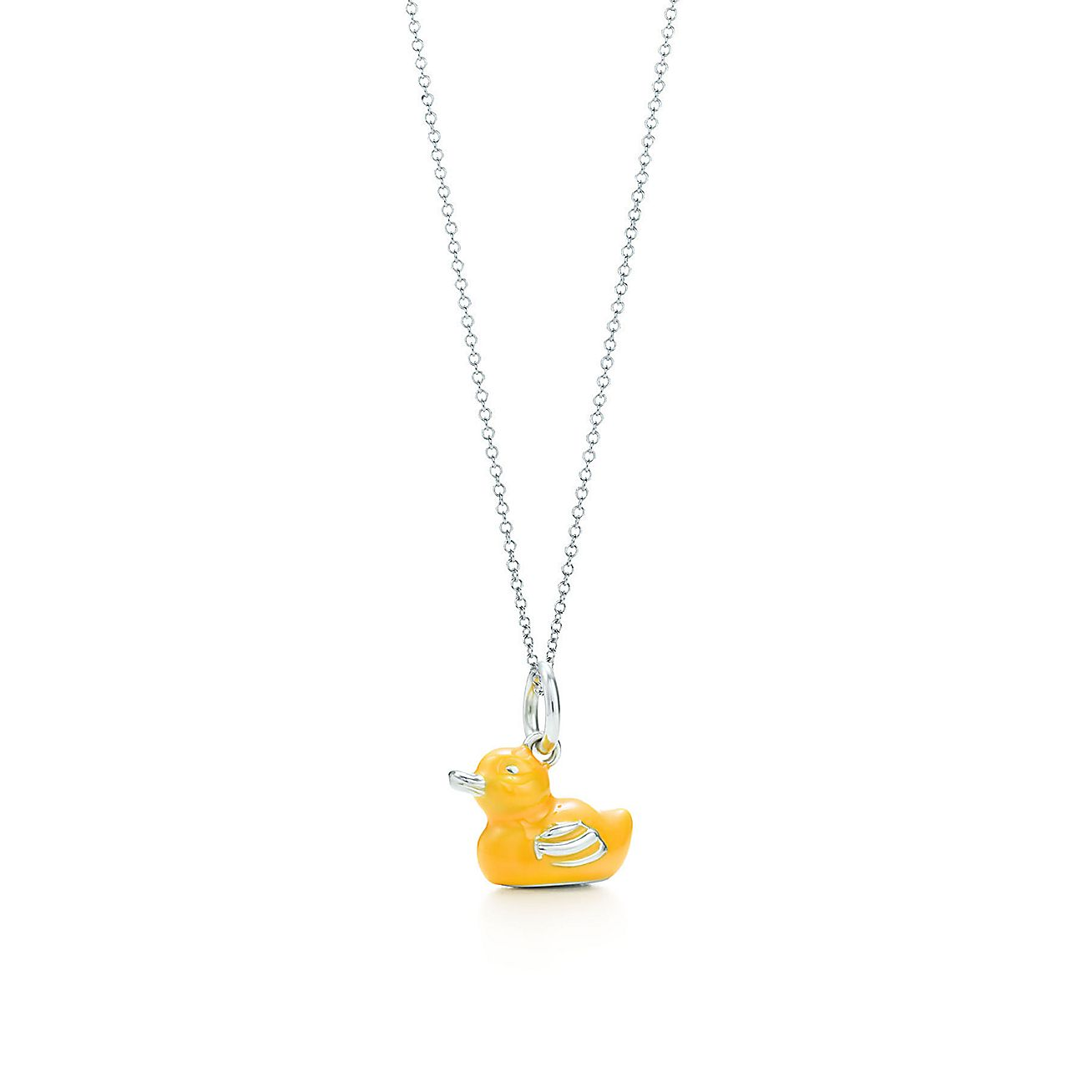 Yellow duck<br>charm and chain