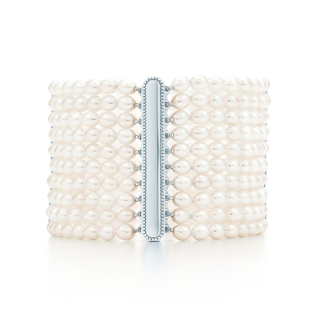 Ziegfeld Collection:10-row Pearl Bracelet