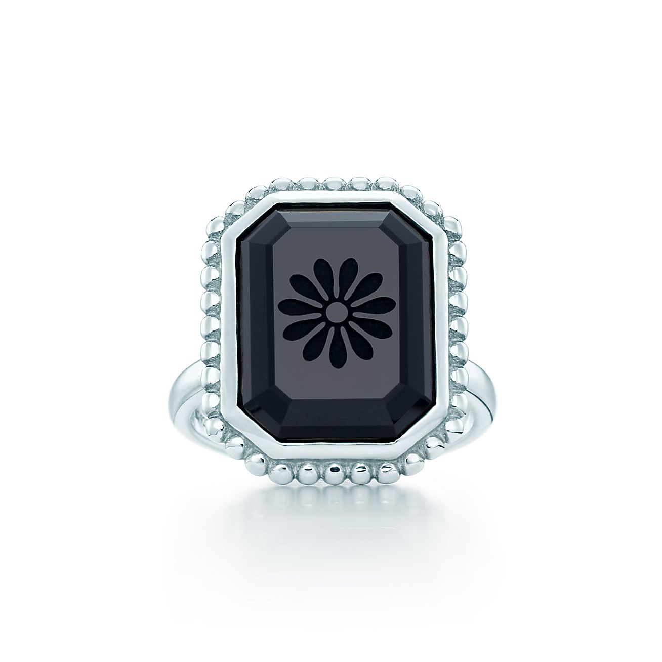 Ziegfeld Collection Daisy Ring In Sterling Silver And
