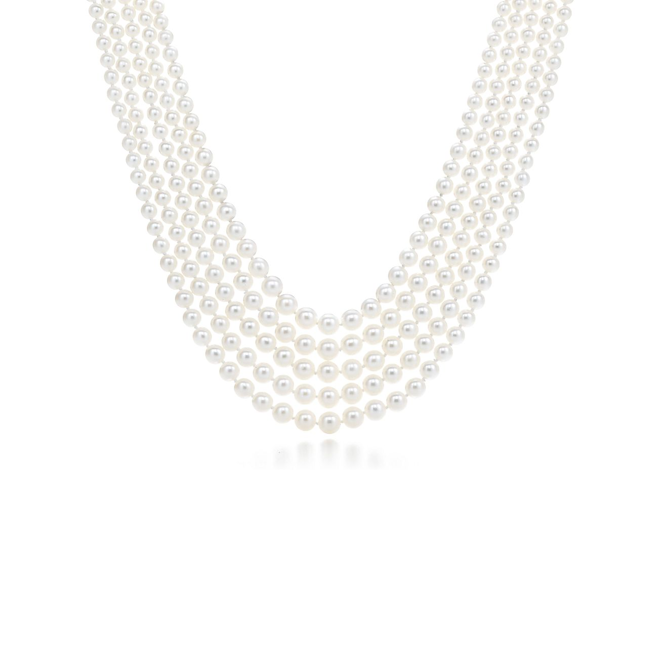 Ziegfeld Collection:Five-strand<br>Pearl Necklace