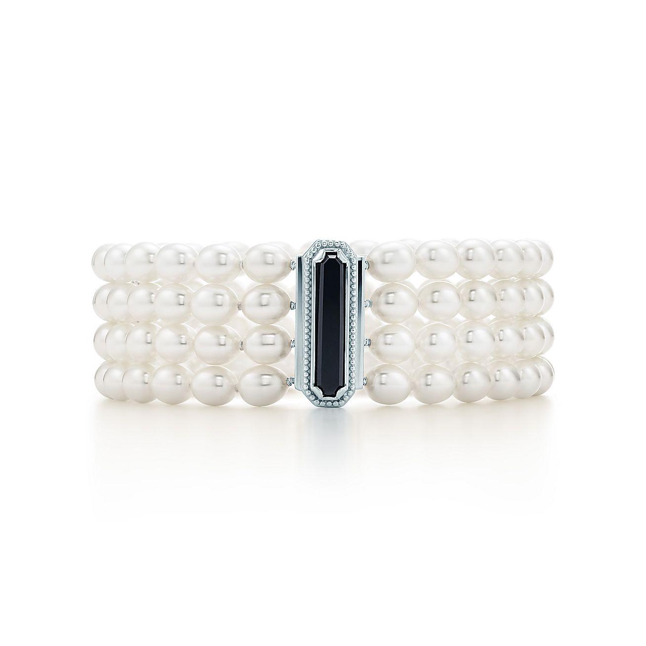 Ziegfeld Collection:Four-row Pearl Bracelet