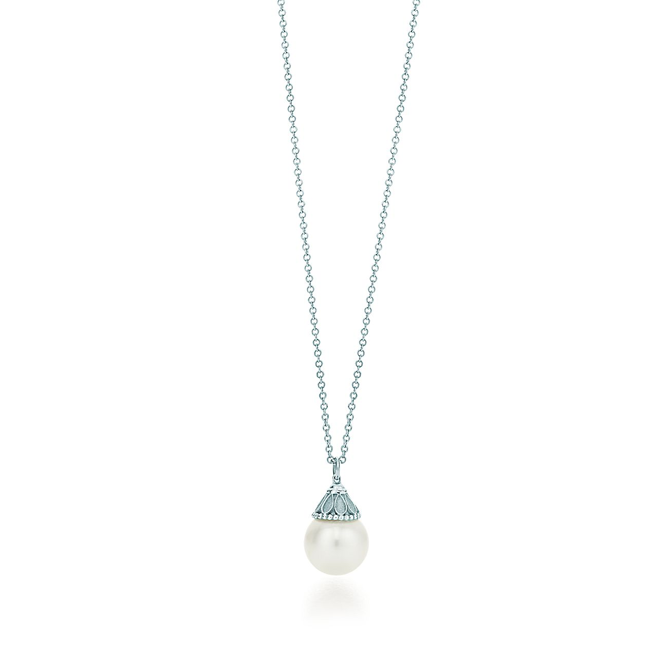 Ziegfeld Collection Pearl Pendant In Sterling Silver