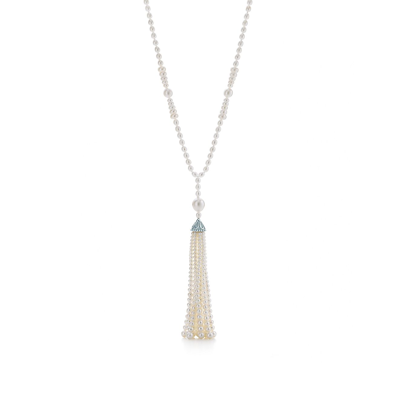 Ziegfeld Collection:Pearl Tassel Necklace