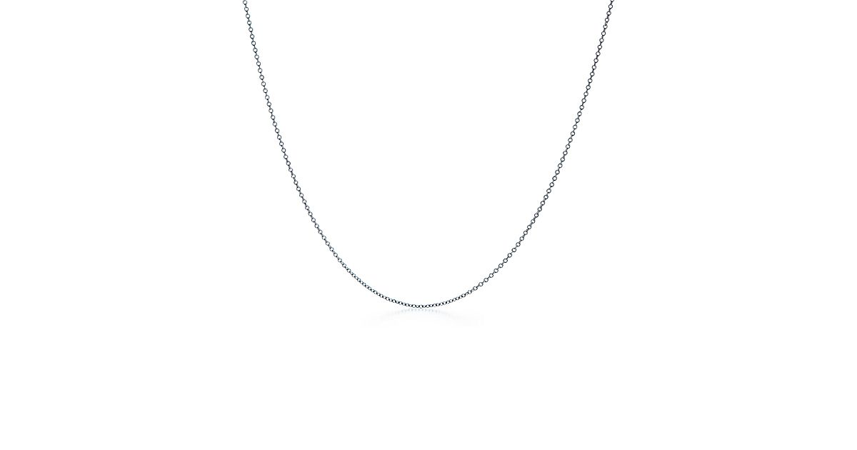 Chain in 18k white gold 30 long tiffany co aloadofball Image collections