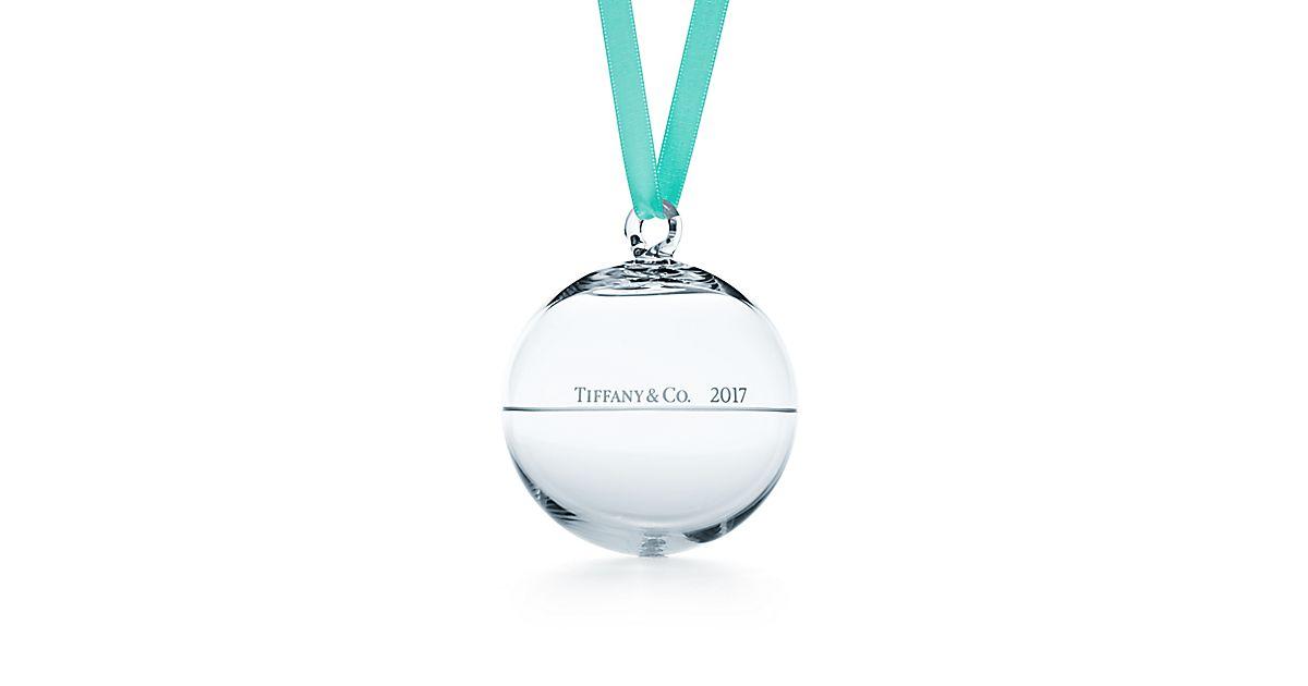 2017 Ball Ornament In Glass