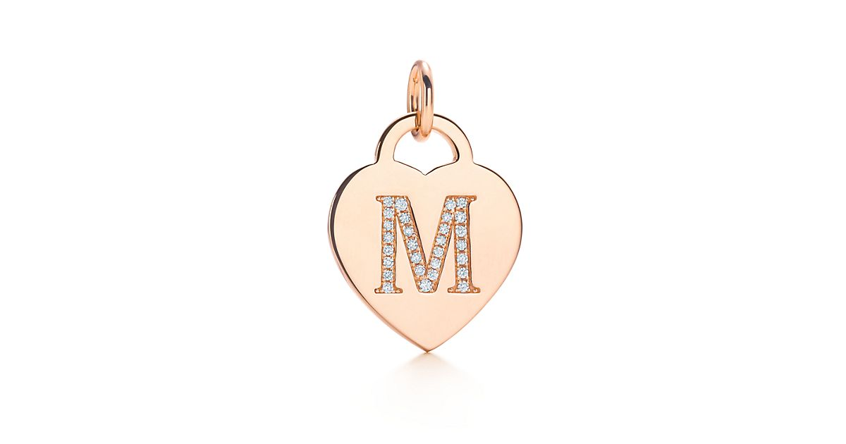 Stylish k Alphabet in Heart Alphabet Heart Tag Letter m