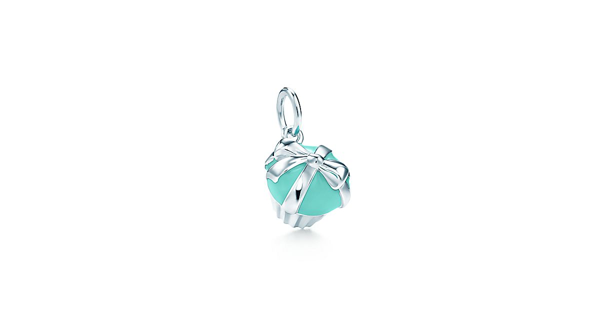 Cupcake Charm In Sterling Silver With Tiffany Blue 174 Enamel