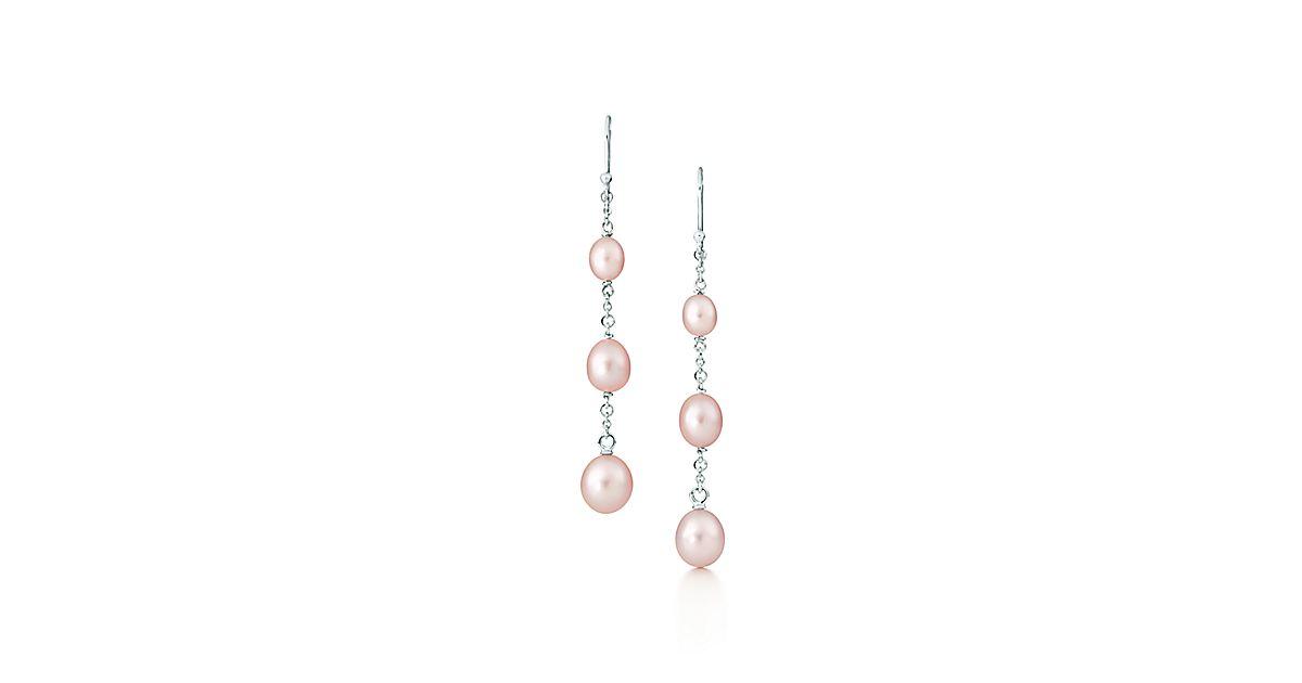 Elsa Peretti 174 Pearls By The Yard Drop Earrings In Silver