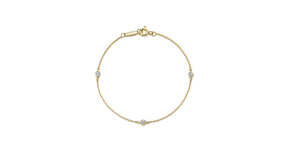 Elsa Peretti Diamonds by the Yard bracelet in 18k gold