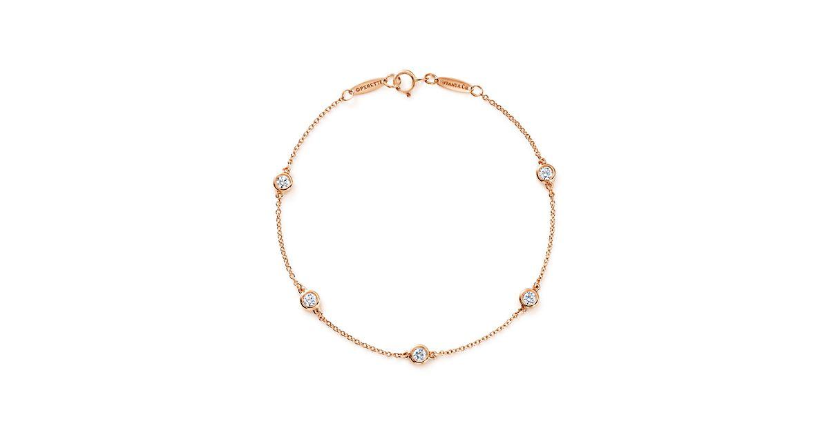 Elsa Peretti Diamonds by the Yard bracelet in 18k rose gold