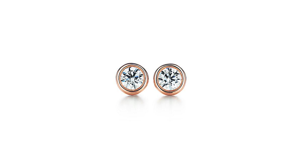 Elsa peretti diamonds by the yard earrings in 18k rose for Diamonds by the yard ring