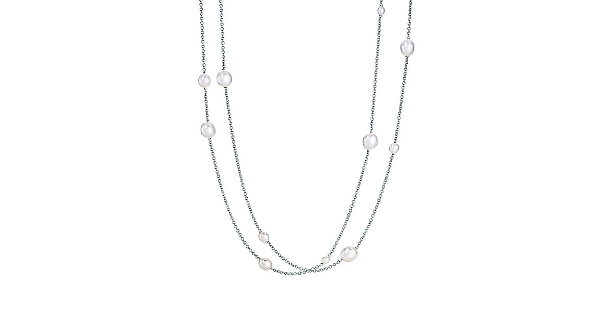 Elsa Peretti Pearls By The Yard Sprinkle Necklace In