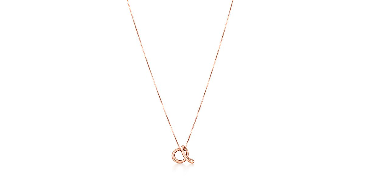 Elsa peretti alphabet pendant in 18k rose gold letters a z elsa peretti alphabet pendant in 18k rose gold letters a z available tiffany co audiocablefo light catalogue