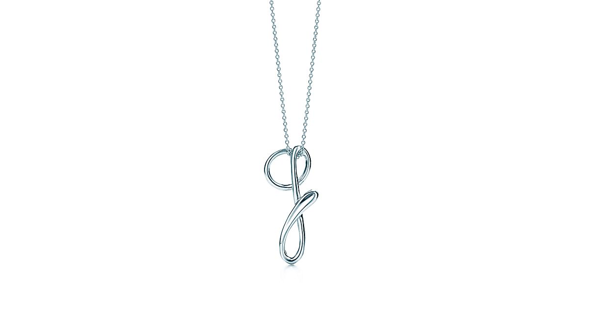 Elsa perettir letter pendant sterling silver small for Elsa peretti letter pendant review