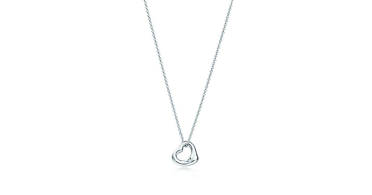 Elsa Peretti® Sterling Silver Open Heart Pendant   Tiffany & Co.