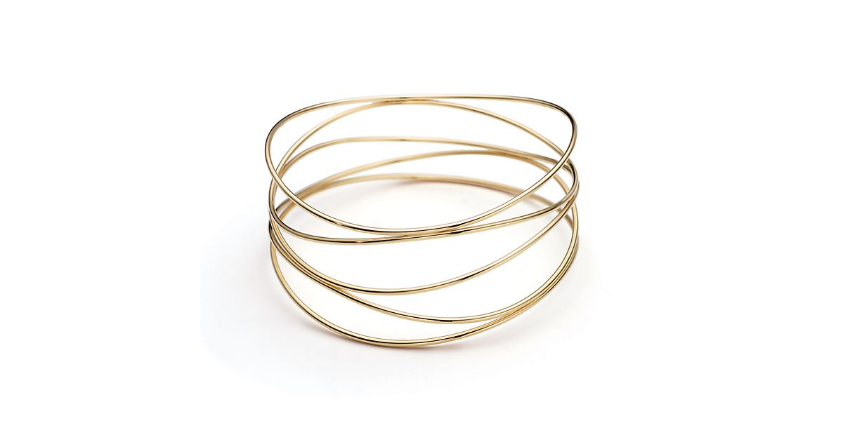 Elsa Peretti Wave five row bracelet in 18k gold medium