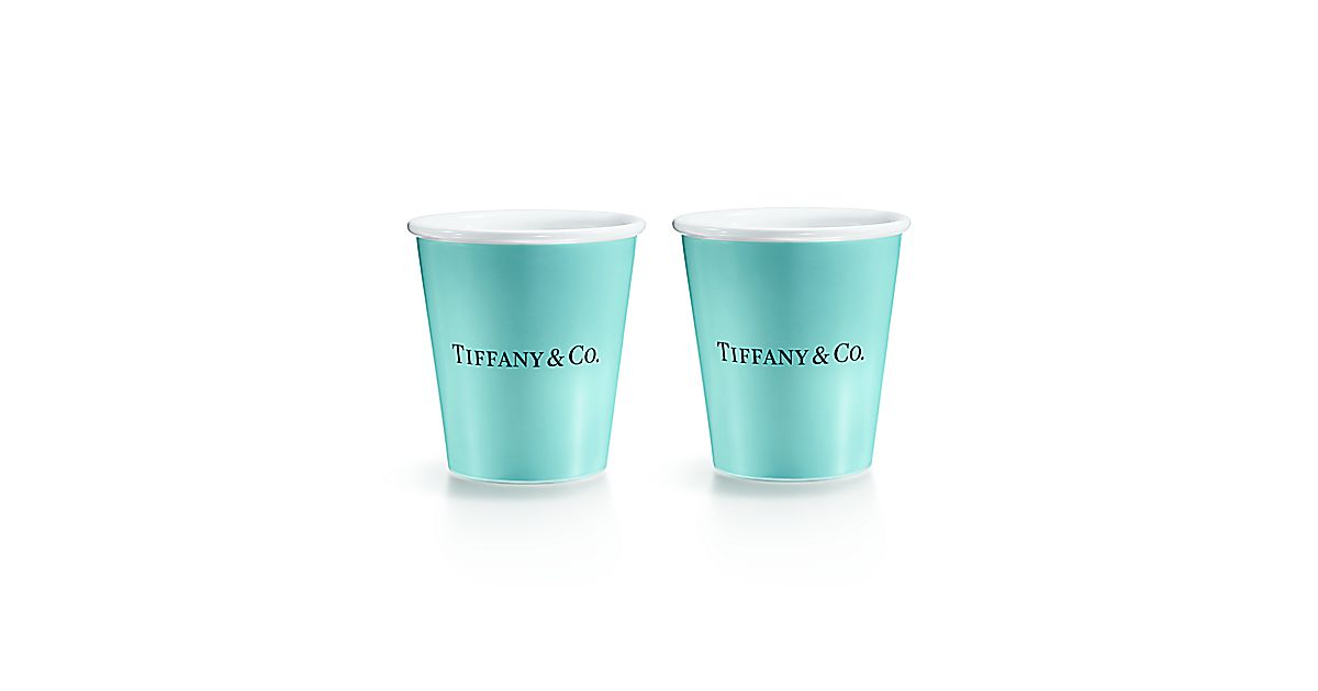 Shop Tiffany Blue Colored Paper Cups In Bone China
