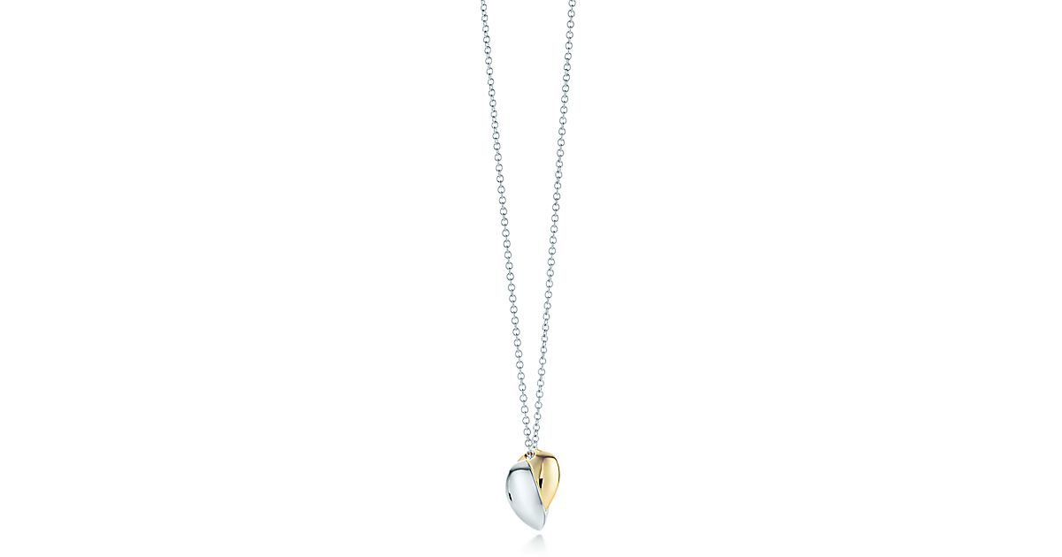 Frank Gehry Hearts Pendant In 18k Gold And Sterling