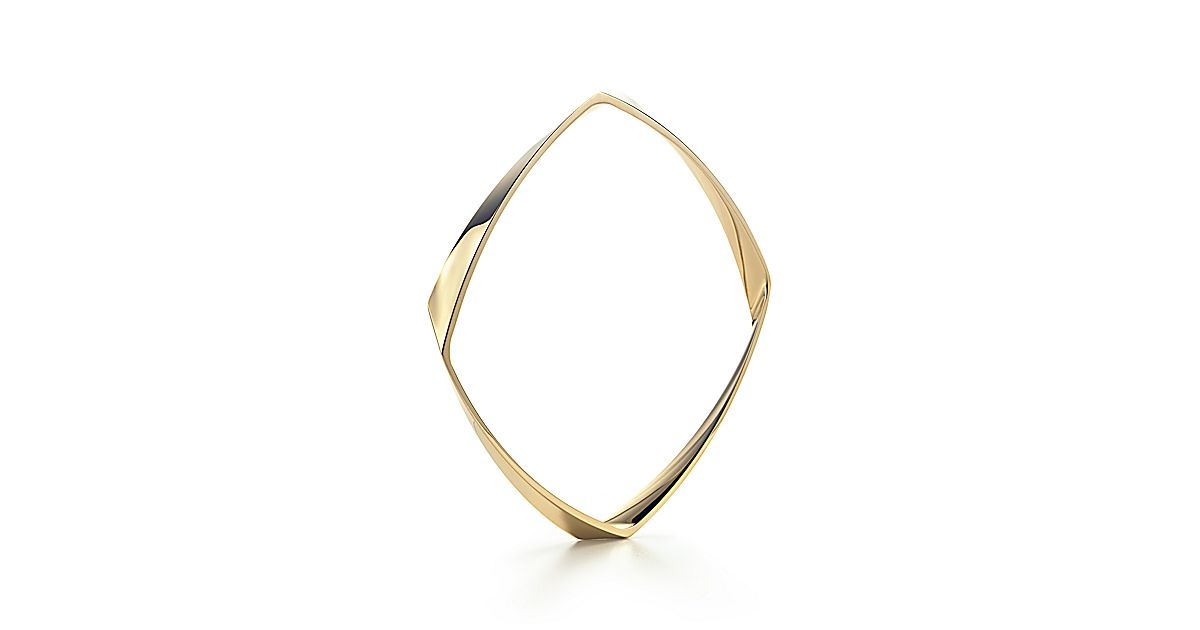 Frank Gehry Torque Narrow Bangle In 18k Gold Medium