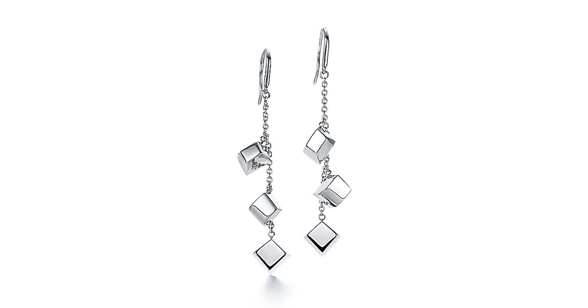 Frank Gehry Torque Bead Long Drop Earrings In Sterling