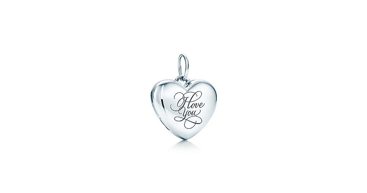 """Tiffany & Co. - """"I Love You"""" Heart Locket"""