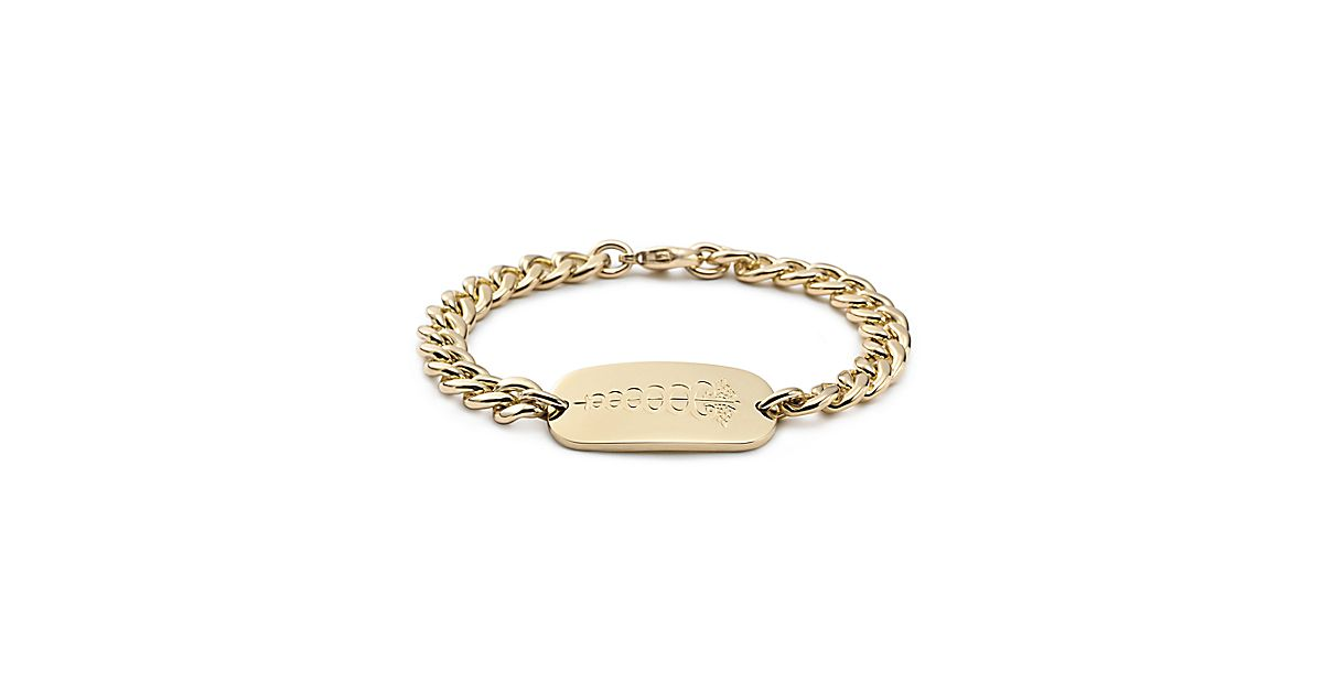 Medical I D Bracelet In 18k Gold Tiffany Amp Co