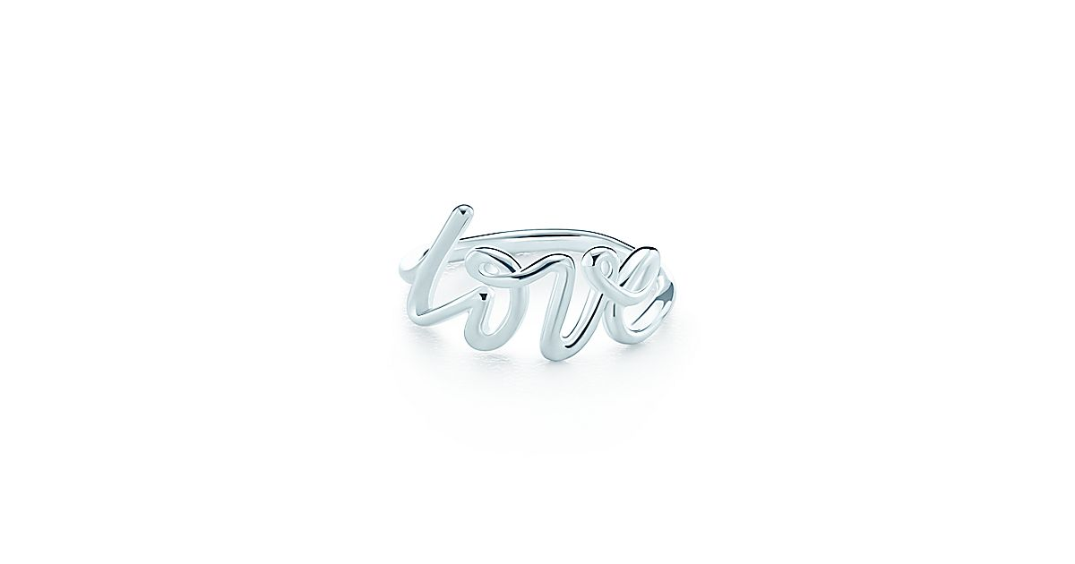 Paloma Picasso 174 Love Ring In Sterling Silver Tiffany Amp Co