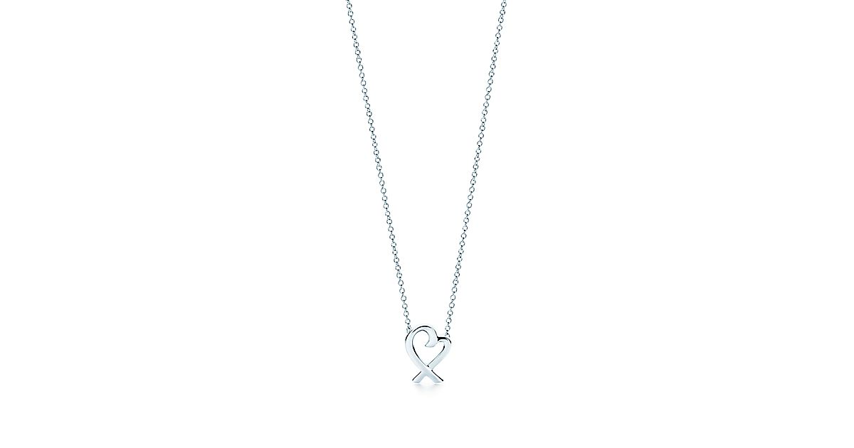 Paloma picasso loving heart pendant in sterling silver mini paloma picasso loving heart pendant in sterling silver mini tiffany co aloadofball Image collections