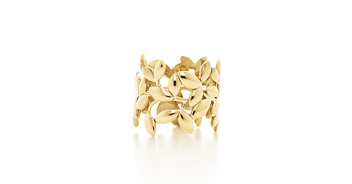 Paloma Picasso 174 Olive Leaf Band Ring In 18k Gold
