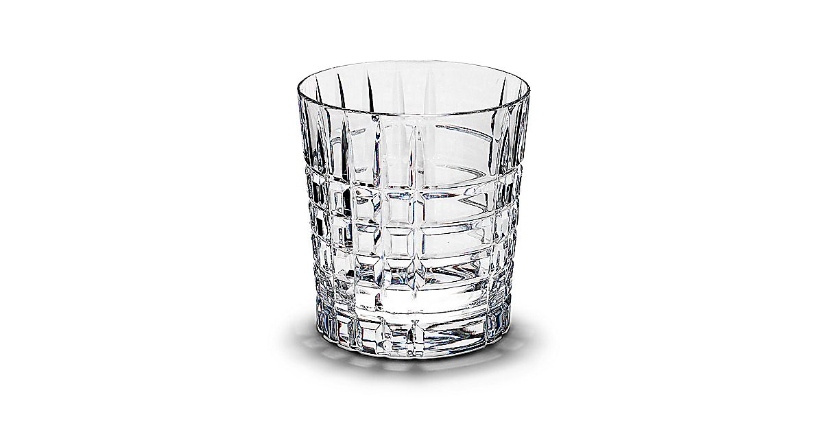 Tiffany Plaid Double Old Fashioned Glass