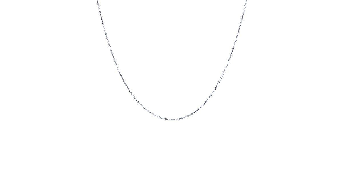 shop platinum chain necklace in 18 quot length co