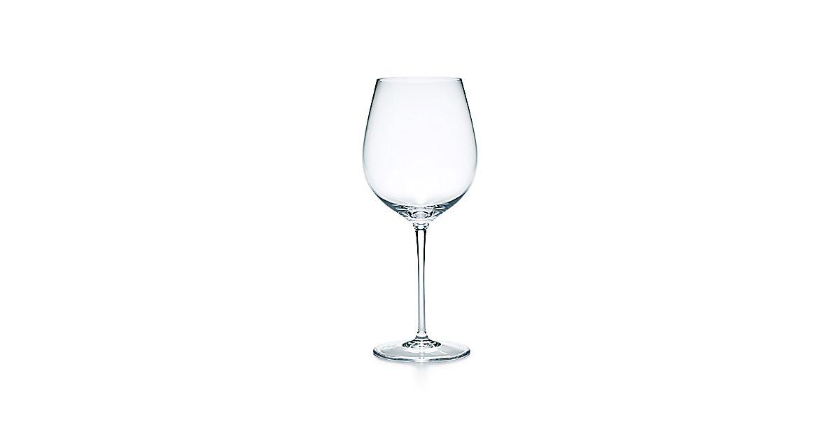 All Purpose Red Wine Glass In Handblown Crystal Tiffany