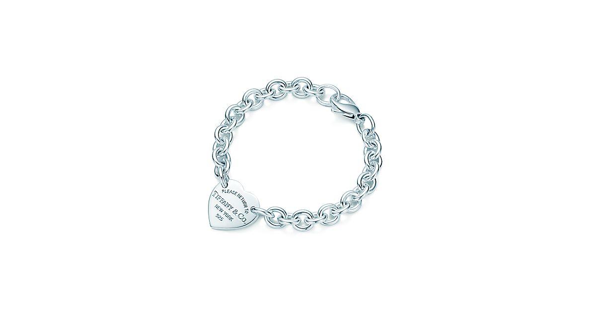 return to tiffany medium heart tag on a bracelet in. Black Bedroom Furniture Sets. Home Design Ideas