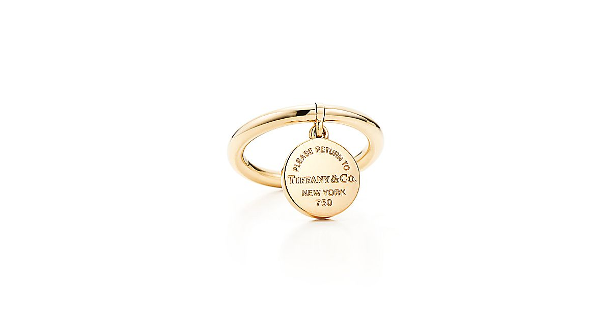 Return To Tiffany Round Tag Ring In 18k Gold Tiffany Amp Co