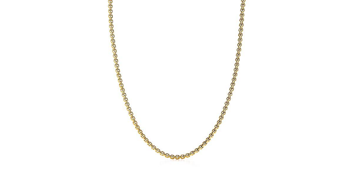 Men S 18k Gold Square Link Necklace Tiffany Amp Co