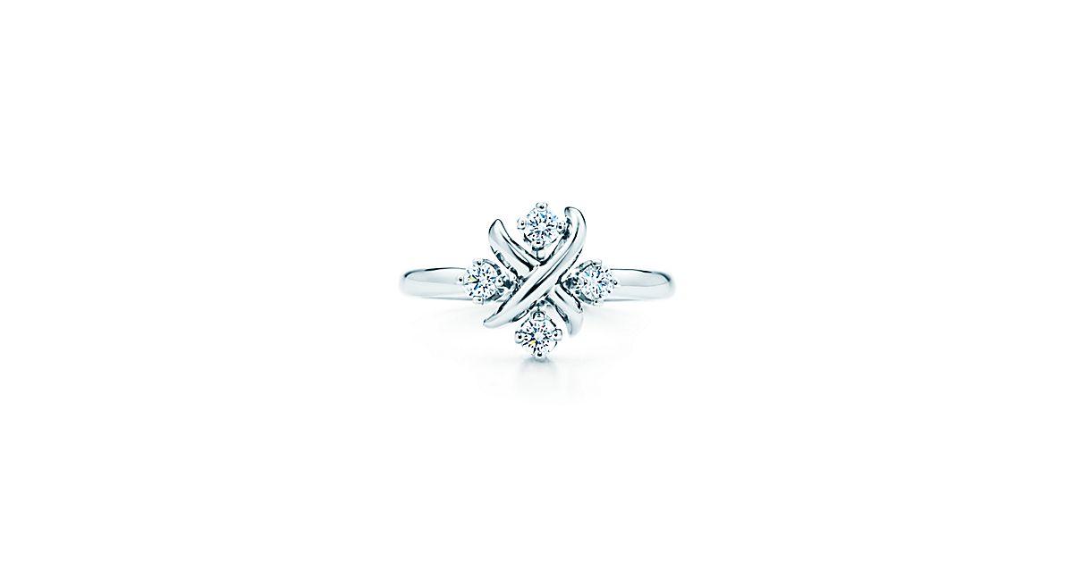 jean schlumberger lynn ring aus platin mit diamanten tiffany co. Black Bedroom Furniture Sets. Home Design Ideas