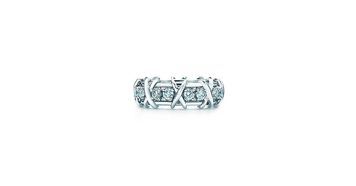 schlumberger sixteen stone ring aus platin mit diamanten tiffany co. Black Bedroom Furniture Sets. Home Design Ideas