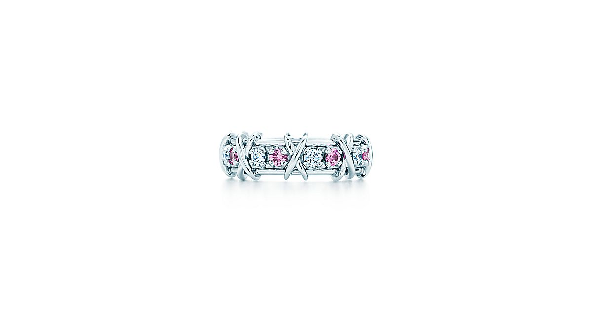 jean schlumberger sixteen stone ring mit saphiren und diamanten aus platin tiffany co. Black Bedroom Furniture Sets. Home Design Ideas