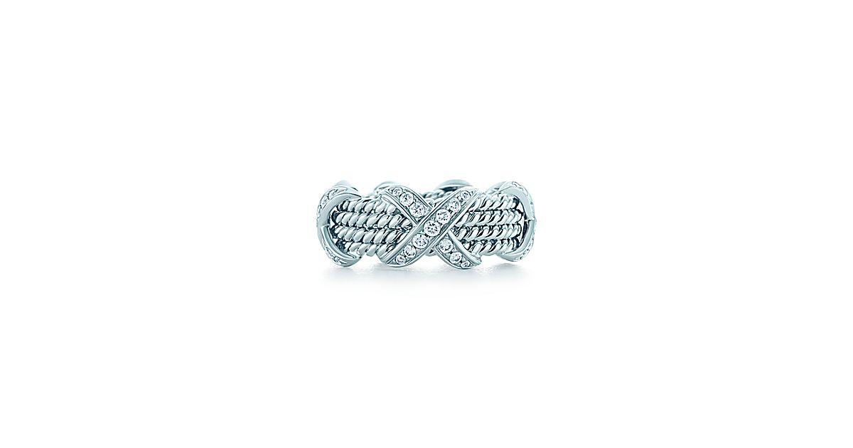 tiffany co schlumberger rope vierreihiger ring aus wei gold mit diamanten tiffany co. Black Bedroom Furniture Sets. Home Design Ideas