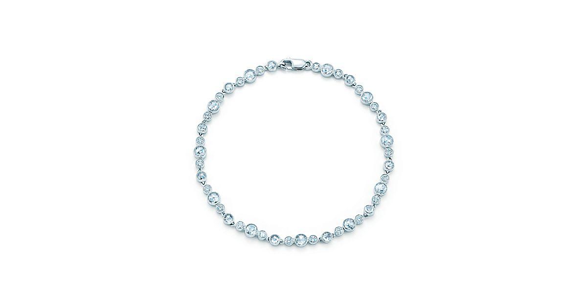 Tiffany Cobblestone Diamond Bracelet In Platinum With