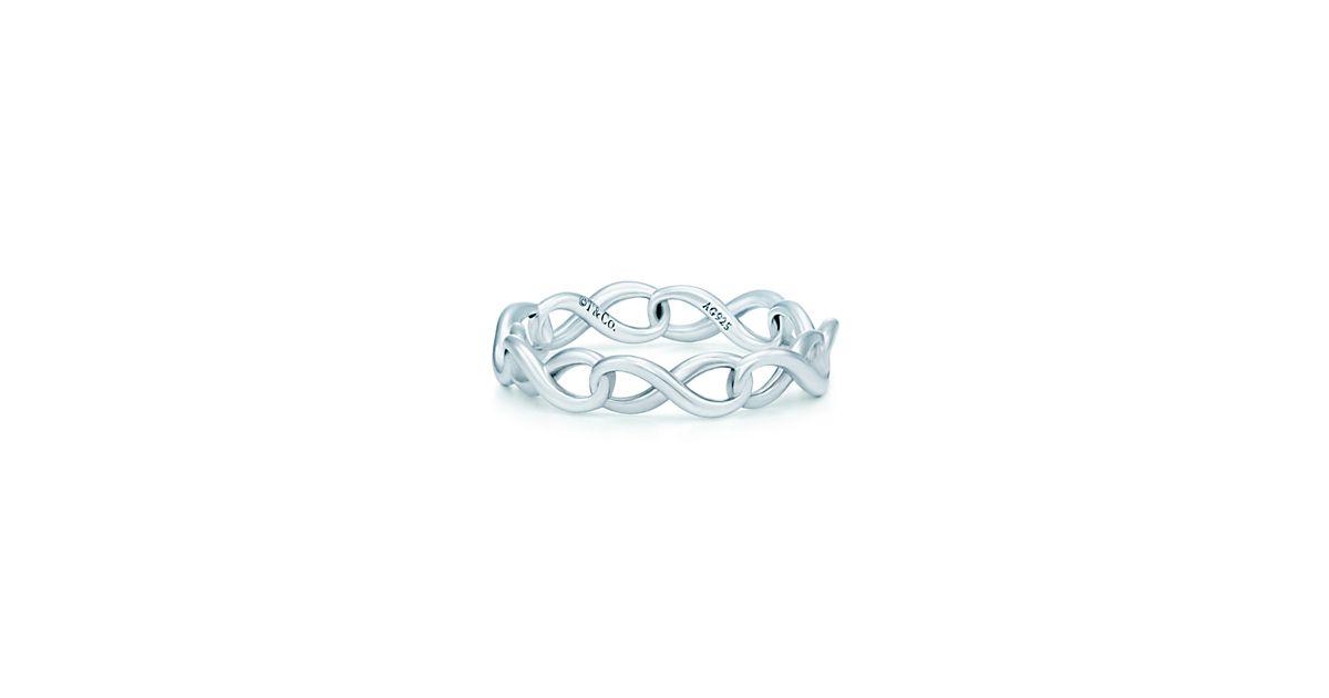 Tiffany Infinity Ring Sterling Silver Tiffany Infinity narro...