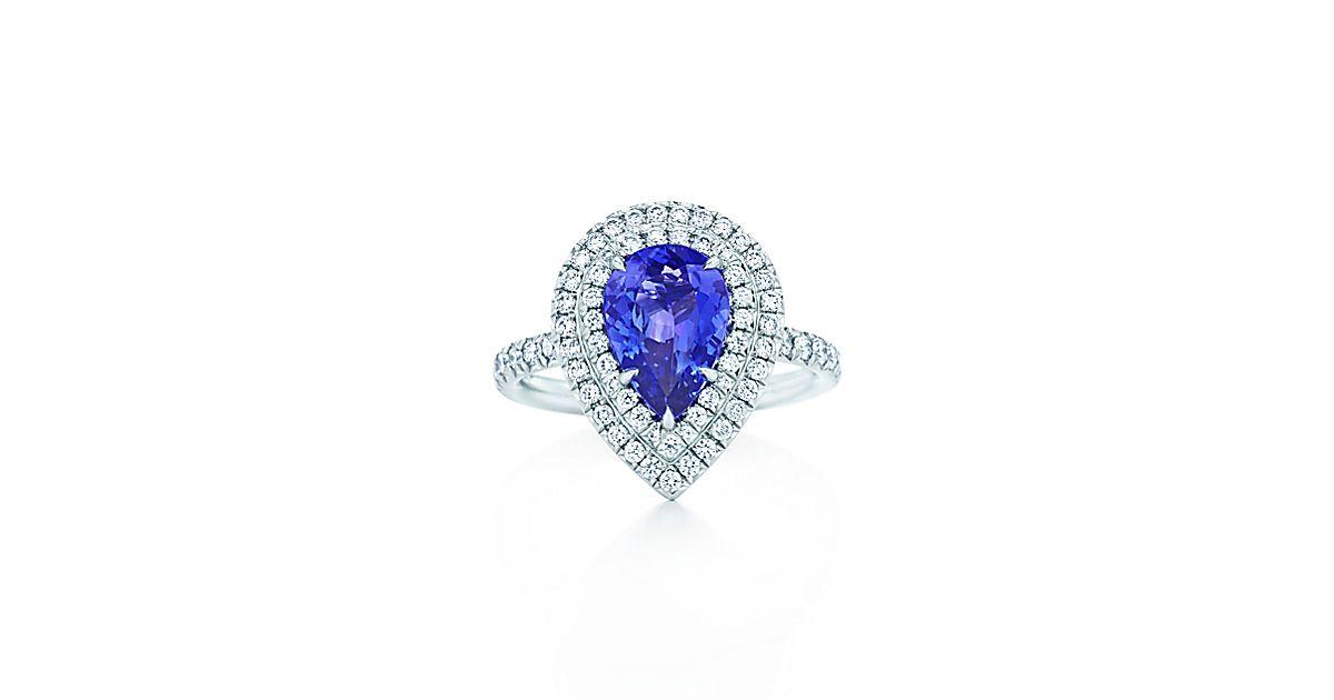 tiffany soleste ring mit tansaniten und diamanten aus. Black Bedroom Furniture Sets. Home Design Ideas